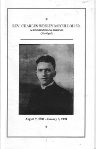 Rev. Charles Wesley McCulloh Sr.: A Biographical Sketch
