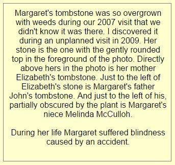 Margaret D McCulloh tombstone web comment