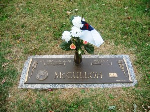 McCulloh-Charles Jr - Grave Marker with fowers