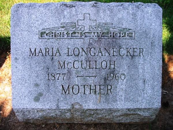 McCulloh-Maria Longanecker d1960 (2)