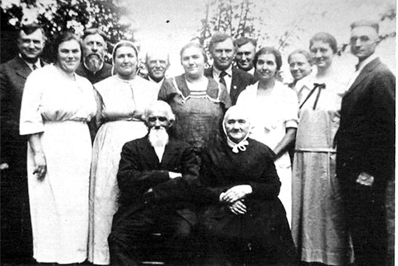 Samuel Longanecker & Maria Gsell Family - date unknown