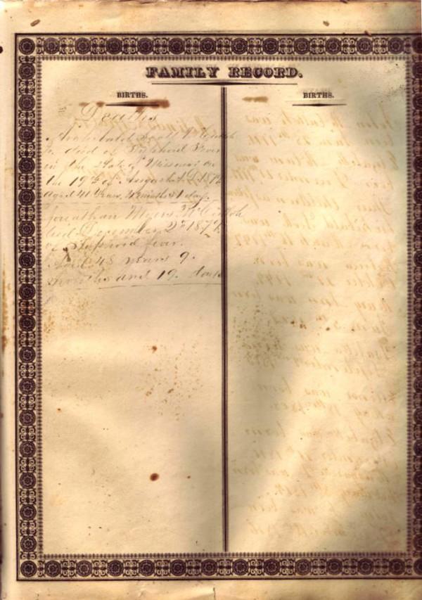 Mary Ann McCulloh Lewis Bible - Births Page