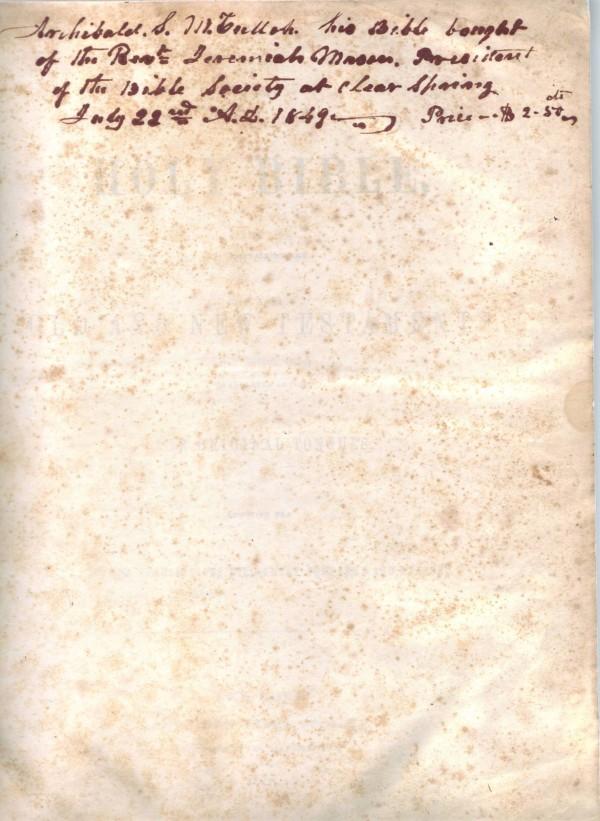 archibald scott mcculloh - bible TP-web